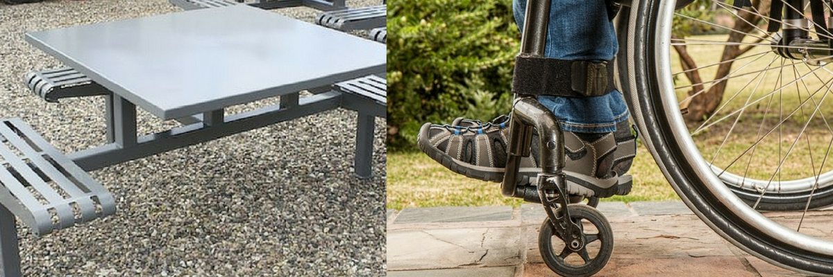 custom picnic tables that are ada compliant