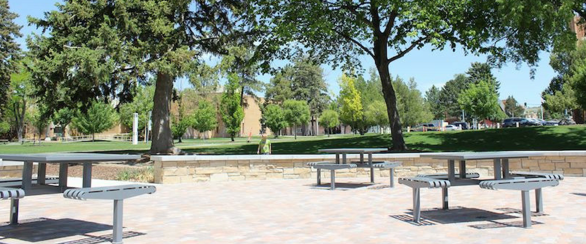 HICKORY STYLE PICNIC TABLES AT IDAHO STATE UNIVERSITY