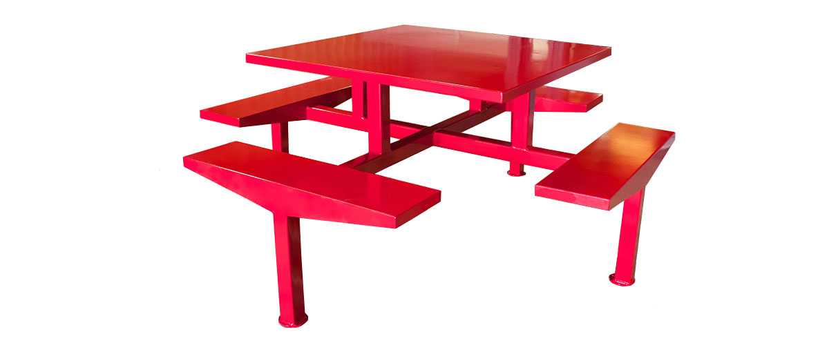 red hickory picnic table