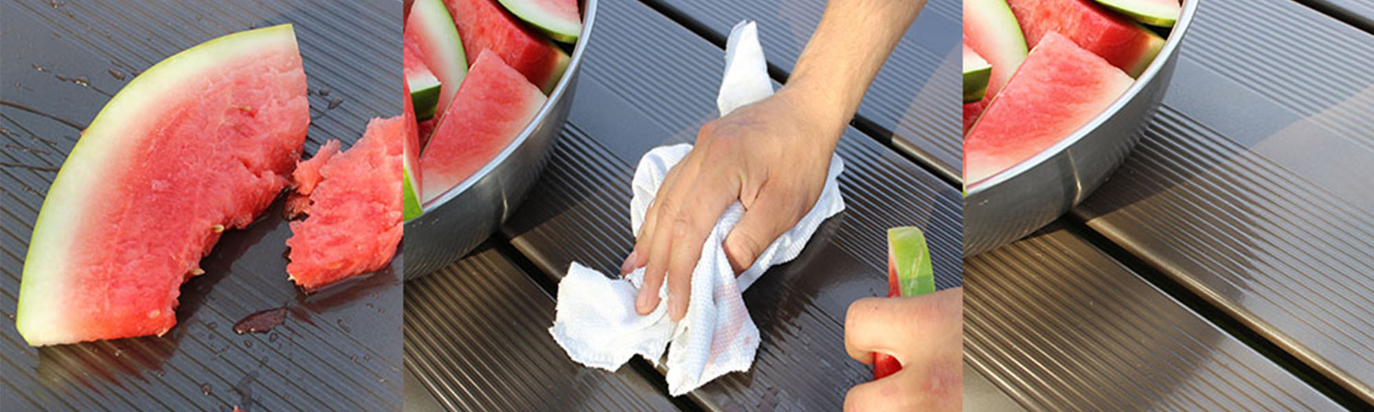 easy clean up picnic table